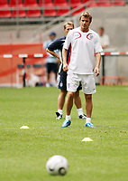 Photo: Chris Ratcliffe.<br />England Training Session. FIFA World Cup 2006. 19/06/2006.<br />David Beckham in training.