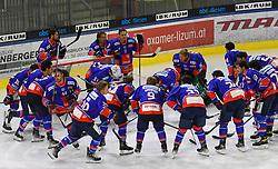 17.09.2021, Tiroler Wasserkraft Arena, Innsbruck, AUT, ICE, HC TWK Innsbruck Die Haie vs HK SZ Olimpija, Grunddurchgang, 1. Runde, im Bild HC TIWAG Innsbruck jubelt über den 4:3 Sieg // during the bet-at-home ICE Hockey League Basic round 1th round match between HC TWK Innsbruck Die Haie and HK SZ Olimpija at the Tiroler Wasserkraft Arena in Innsbruck, Austria on 2021/09/17. EXPA Pictures © 2021, PhotoCredit: EXPA/ Erich Spiess