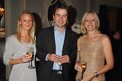 Centre & right, ALBERT READ and TRISH STEVENSON publisher of Tatler, at the Tatler magazine Summer Party, Home House, Portman Square, London W1 on 27th June 2007.<br />