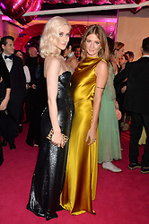 Left to right, PORTIA FREEMAN and MILLIE MACKINTOSH at The Naked Heart Foundation's Fabulous Fund Fair hosted by Natalia Vodianova and Karlie Kloss at Old Billingsgate Market, 1 Old Billingsgate Walk, London on 20th February 2016.
