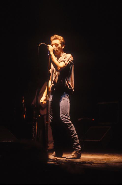 Bruce Springsteen, Winterland, San Francisco, CA. 1978. ©1978, Davis Barber. 714-441-0990.