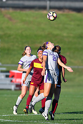 04 November 2016:  JBess Ruby during an NCAA Missouri Valley Conference (MVC) Championship series women's semi-final soccer game between the Loyola Ramblers and the Evansville Purple Aces on Adelaide Street Field in Normal IL