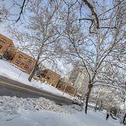 West Plaza neighborhood of Kansas City, Missouri after snowfall.