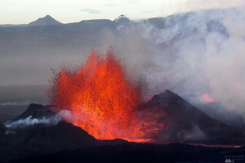 This is the Holuhraun volcano in Iceland, that began erupting at the end of August 2014. I flew to Iceland to take a couple of flights over the eruption site in a Cessna.