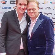 NLD/Amsterdam/20150629 - Uitreiking Rainbow Awards 2015, Frits Huffnagel en .............