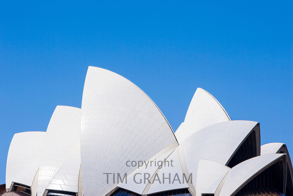 Sydney Opera House, close up of the sails of the roof, Sydney, New South Wales, Australia<br /> FINE ART PHOTOGRAPHY by Tim Graham