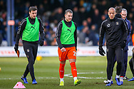 Luton Town midfielder George Moncur warms up before the EFL Sky Bet League 1 match between Luton Town and Wycombe Wanderers at Kenilworth Road, Luton, England on 9 February 2019.