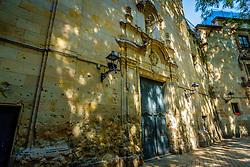 Plaça de Sant Felip Neri (Sant Felip Neri Square) Barcelona, Catalonia, Spain.   Sant Felip Neri is a peaceful square hidden between the narrow and charming streets of the Gothic Quarter<br /> <br /> (c) Andrew Wilson   Edinburgh Elite media