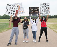 Black Lives Matter demonstration in Hyde Park London photo by Brian Jordan