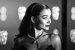 Amy Jackson attending 72nd British Academy Film Awards, Arrivals, Royal Albert Hall, London. 10th February 2019