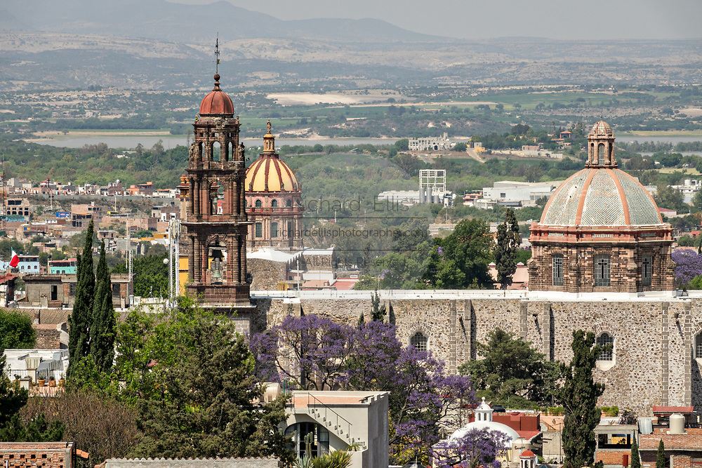 A view of the church domes and bell towers in San Miguel de Allende, Guanajuato, Mexico.