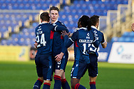 Oi Shaw No 8 celebrates opening goal during the Scottish Premiership match between Ross County FC and Aberdeen FC at the Global Energy Stadium, Dingwall, Scotland on 16 January 2021.
