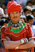 Male dancer at cultural event in Bhaktapur, Nepal