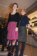 PERDITA WEEKS AND HER MOTHER SUSAN WEEKS, Smythson Sloane St. Store opening. London. 6 February 2012.