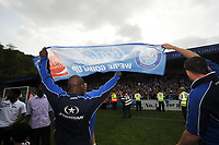 Wycombe Wanderers/Notts County Coca Cola League Two 02.05.09 <br /> Photo: Tim Parker Fotosports International<br /> Frank Sinclair Wycombe Wanderers celebrates promotion to Coca Cola League One