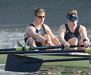 Putney, London,  Tideway Week, Championship Course. River Thames,  Oxford UBC. Left. Bow: William Warr and 2: Matthew O'Leary,<br /> Tuesday  28/03/2017<br /> [Mandatory Credit; Credit: Peter Spurrier/Intersport Images.com ]