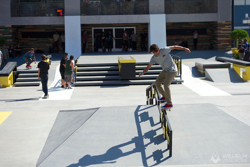 Sean Malto during Street League Skate Practice at the 2013 X Games Los Angeles in Los Angeles, CA. ©Brett Wilhelm/ESPN