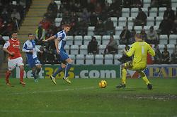 Bristol Rovers' Matt Harrold takes a shot at goal. - Photo mandatory by-line: Dougie Allward/JMP - Tel: Mobile: 07966 386802 14/12/2013 - SPORT - Football - Morecombe - Globe Arena - Morecombe v Bristol Rovers - Sky Bet League Two