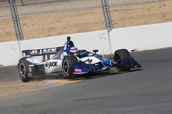 September 14, 2018 - Sonoma, CA, U.S. - SONOMA, CA - SEPTEMBER 14: Takuma Sato breaks hard as he enters the Turn 9A area during the afternoon Verizon IndyCar Series practice for the Grand Prix of Sonoma on September 14, 2018, at Sonoma Raceway in Sonoma, CA. (Photo by Larry Placido/Icon Sportswire) (Credit Image: © Larry Placido/Icon SMI via ZUMA Press)