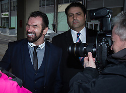 Paddy Doherty court 06/03/2014. Thursday, 6th March 2014. My Big Fat Gypsy Wedding star PATRICK DOHERTY arrives at Manchester Crown Court . He is due to be sentenced for his part in a pub brawl in Shotton , Flintshire , last year . Doherty , who is currently serving a suspended sentence for another crime , could face a custodial sentence . Picture by Joel Goodman/i-Images