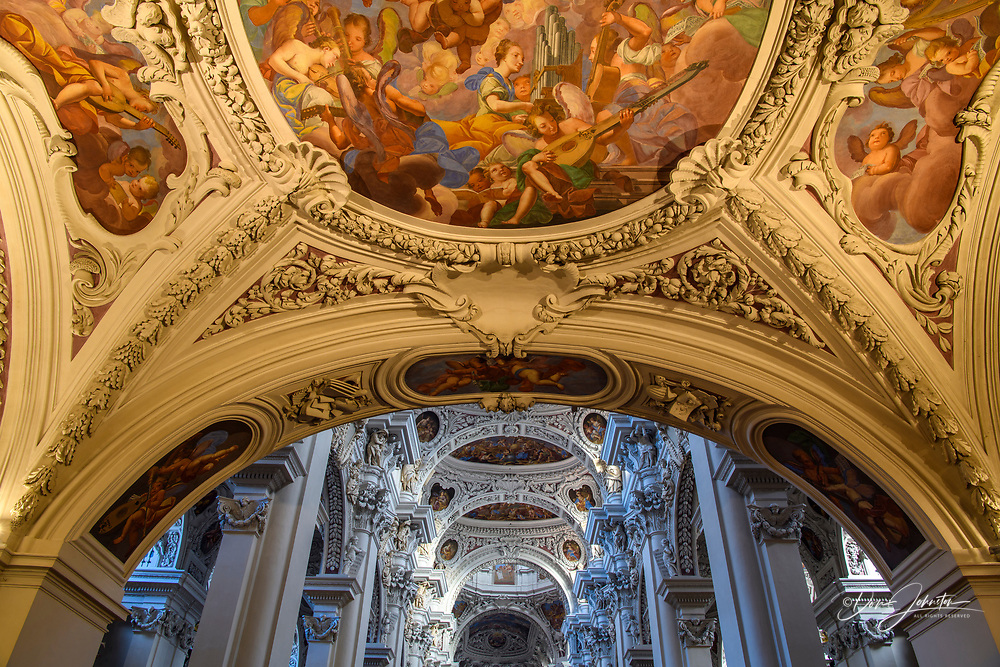 St. Stephen's Cathedral interior, Passau, Bavaria, Germany