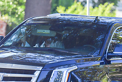 EXCLUSIVE: Khloe Kardashian and Tristen Thompson arrive at a 4th of July party at Tristen's home in Los Angeles just after Kourtney Kardashian arrived in her Escalade. 04 Jul 2020 Pictured: Khloe Kardashian, Tristen Thompson and Kourtney Kardashian. Photo credit: Snorlax / MEGA TheMegaAgency.com +1 888 505 6342