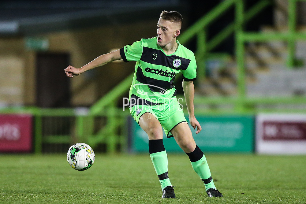 Forest Green Rovers Sam Hendy(4) during the FA Youth Cup match between U18 Forest Green Rovers and U18 Cheltenham Town at the New Lawn, Forest Green, United Kingdom on 29 October 2018.