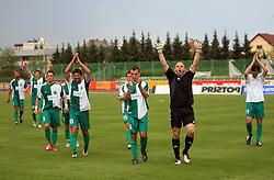 Agim Ibraimi (9), Amir Karic (10), Adnan Alagic (4), Volk Robert and Miran Pavlin celebrate at football match of 2nd SNL between NK Olimpija Ljubljana and NK Zagorje, on May 03, 2009, in ZAK stadium, Ljubljana, Slovenia. Olimpija won 9:0 and won the 1st place in 2nd SNL. Next year they will play in First Slovenian League. (Photo by Vid Ponikvar / Sportida)