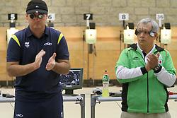 O brasileiro Júlio Almeida conquista a medalha de bronze na prova de tiro esportivo nos jogos Pan-Americanos de Guadalarrara 2011. FOTO: Jefferson Bernardes/Preview.com