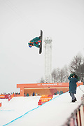 Scotty James, Australia, during the mens Snowboard Halfpipe Finals of the Pyeongchang Winter Olympics on 14th February 2018 in South Korea