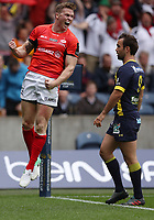Rugby Union - 2017 European Rugby Champions Cup Final - Clermont Auvergne vs. Saracens<br /> <br /> Chris Ashton of Saracens celebrates scoring the opening try during the Champions Cup Final at Murrayfield.<br /> <br /> COLORSPORT/LYNNE CAMERON