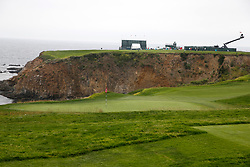 June 12, 2019 - Pebble Beach, CA, U.S. - PEBBLE BEACH, CA - JUNE 12: A general view of the 8th hole seen during a practice round for the 2019 US Open on June 12, 2019, at Pebble Beach Golf Links in Pebble Beach, CA. (Photo by Brian Spurlock/Icon Sportswire) (Credit Image: © Brian Spurlock/Icon SMI via ZUMA Press)