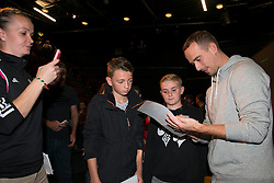 England Manager, Mark Sampson signs autographs for fans - Mandatory byline: Dougie Allward/JMP - 07966386802 - 05/09/2015 - FOOTBALL - SGS Wise Campus -Bristol,England - Bristol Academy Womens v Birmingham City Ladies - FA Womens Super League