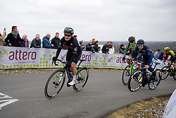 Jelena Eric approaches the top of the VAMberg at Drentse 8 van Westerveld 2018 - a 142 km road race on March 9, 2018, in Dwingeloo, Netherlands. (Photo by Sean Robinson/Velofocus.com)