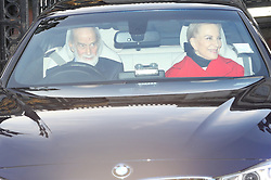 Prince and Princess Michael of Kent leaving the Queen's Christmas lunch at Buckingham Palace, London.