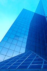 Tilted glass exterior