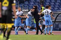 Esultanza dopo il gol di Luis Alberto Lazio, con Inzaghi. Goal celebration.<br /> Roma 02-09-2018 Stadio Olimpico Calcio Serie A 2018/2019 Lazio - Frosinone<br /> Foto Antonietta Baldassarre/ Insidefoto