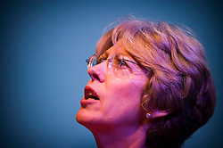 Patricia Hewitt, MP, Secretary of State for Health, giving her keynote address and taking questions from delegates at the NHS Confederation Conference, ICC, Birmingham, England, UK, 17/06/05.