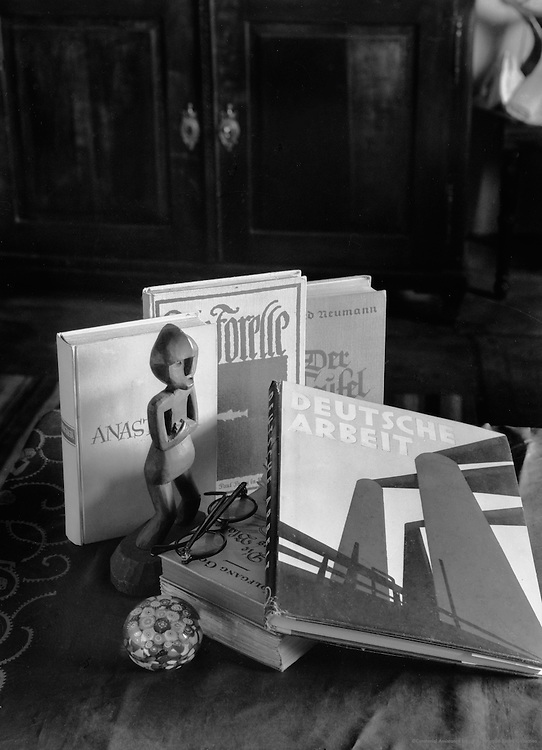 Still life study with e.O. Hoppé's 'Deutsche Arbeit' (1930) photographed in 1935