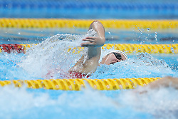 JAKARTA, Aug. 19,2018  Chinese swimmer Wu Yue competes in the women's 4x100m Freestyle Relay final of the 18th Asian Games in Jakarta, Indonesia, Aug. 19, 2018. (Credit Image: © Fei Maohua/Xinhua via ZUMA Wire)