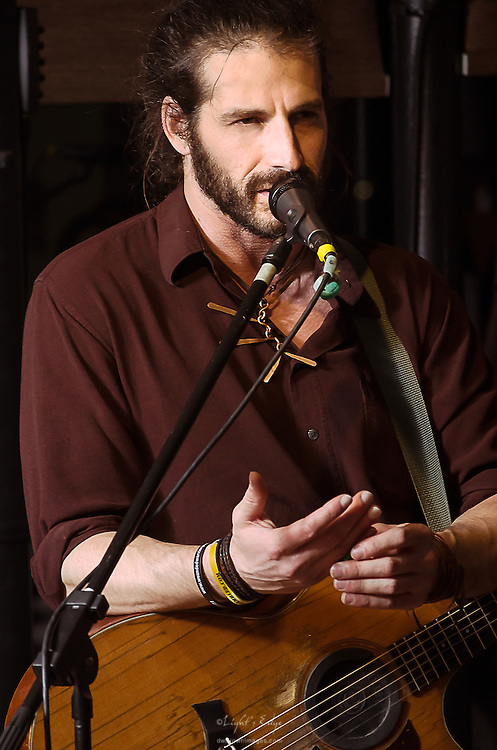 Adam Ezra during his performance with his group at The Bus Stop Music Cafe in Pitman, NJ.