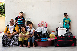 Halide, her son Ozan, her daughter Sevda and her nieces Devran and Yaren are going to Sivas to work with her relatives hoe work. July 20, 2016.<br /> The Southern Kurtalan Train Express route, starting from Kurtalan, stops in Diyarbakir, Malatya, Sivas, Kayseri and Ankara from summer to fall. This train route is mostly used by seasonal workers that are living in east Turkey, but are working on the western part of the country from spring to fall. Photo by Aylin Kizil/NARphotos/ABACAPRESS.COM