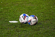 Warm Up Balls during the EFL Sky Bet League 2 match between Tranmere Rovers and Forest Green Rovers at Prenton Park, Birkenhead, England on 19 January 2021.