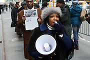 20 February 2009 NY, NY - Atmosphere at Day 2 of New York Post Protest by Rev. Al Sharpton and The National Network against offensive cartoon depicting dead Chimpanzee as President Obama.