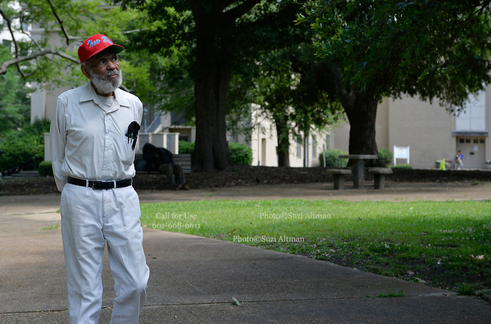 """May 28, 2020  5/28/2020Jackson, MS<br /> Mississippi native son and civil rights icon, James Meredith, 86, speaks about Covid -19 and how the world will never be the same. He also spoke about the murder of  George Floyd in Minnesota and how it is another example of """"holding down a black man,"""" oppression and racism in America. James stresses that it is time for African American Christians to stand up and raise the moral character of their race and lead and by example. He feels the first step is to follow the golden rules and 10 commandments and Mississippi is the center of the Universe. He also stated that it is imperative the African American community votes, in all elections. James will be turning 87 on June 25th and plans on starting his last mission from God then and self publishing his 28th book. His mission involves him traveling to all 82 counties in Mississippi and spreading his message from God and his plan to fix the black/white race issue in America. Photo ©Suzi Altman"""