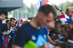 Zoran Dragic posing for a photo during arrival of Slovenian national team from Tokio 2020 Olympic games, 8. August 2021, Airport Jozeta Pucnika, Ljubljana, Slovenia. Photo by Grega Valancic