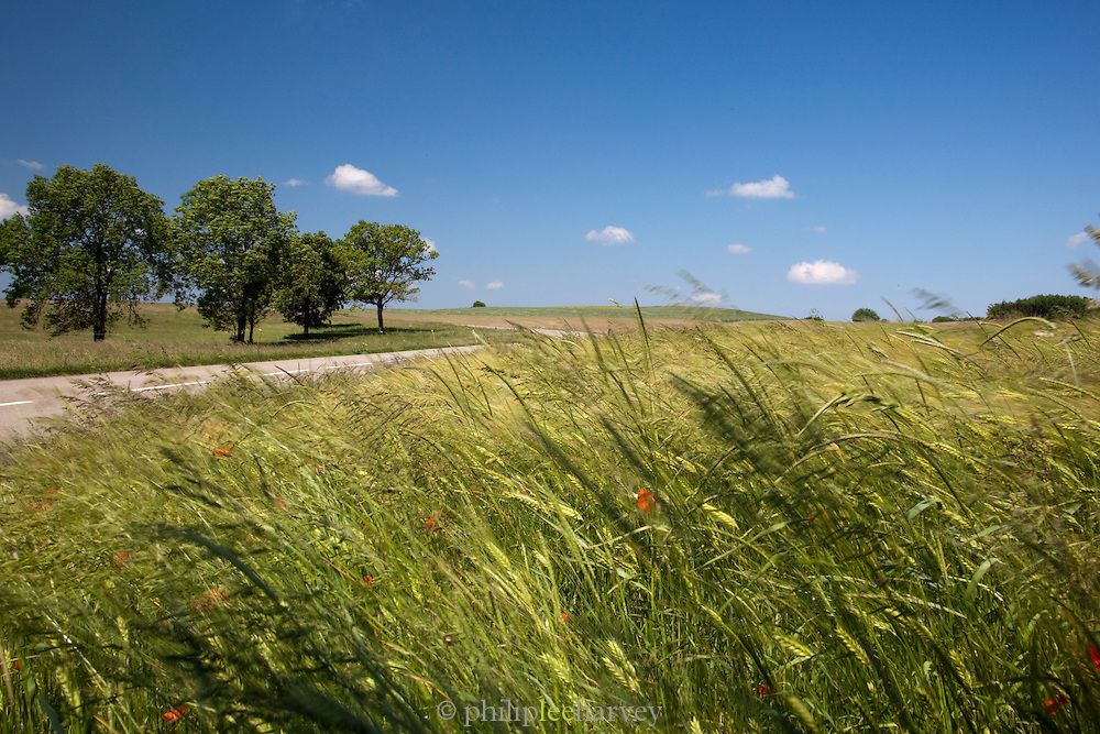 Countryside in the Jura region of France