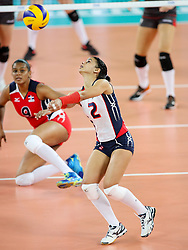 Winifer Maria Fernandez Perez of Dominican Republic during the volleyball match between National team of Turkey and Dominican Republic in Semifinal Round of Womens U23 World Championship 2017, on September 16, 2017 in SRC Stozice, Ljubljana, Slovenia. Photo by Morgan Kristan / Sportida