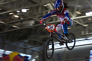 #39 (CARR Amanda) THA at the 2014 UCI BMX Supercross World Cup in Manchester.