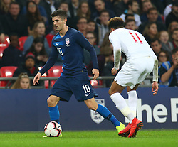 November 15, 2018 - London, United Kingdom - Christian Pulisic of USA .during the friendly soccer match between England and USA at the Wembley Stadium in London, England, on 15 November 2018. (Credit Image: © Action Foto Sport/NurPhoto via ZUMA Press)